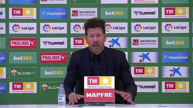 """Simeone, sobre el penalti: """"Tras el fallo, la alegría fue como un gol"""""""