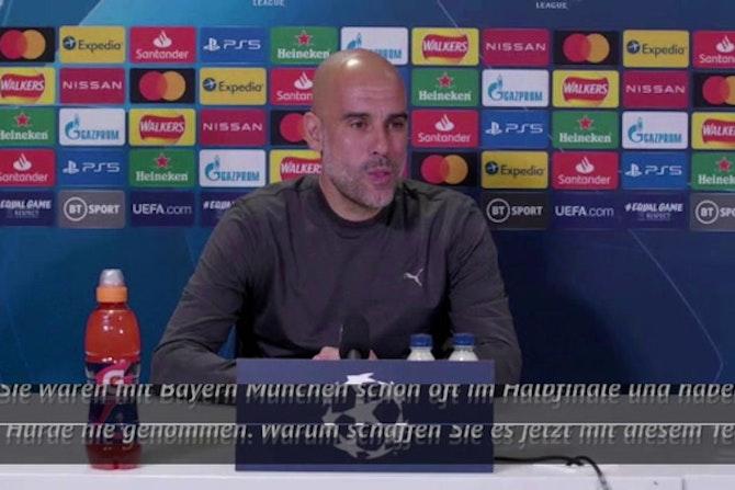 Guardiola blickt auf Halbfinals mit Bayern zurück