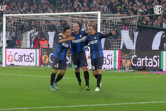 I cinque gol più belli dell'Inter contro la Juventus a Torino