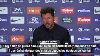 Image d'aperçu pour Atlético - Simeone évoque le futur de Saul Niguez
