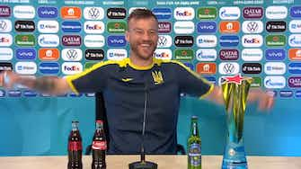 Preview image for ©️ UEFA 2021 Coca-Cola and Heineken… please contact me! Brilliant Yarmolenko press conference moment