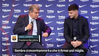 Anteprima immagine per Lapsus di Laporta con Pedri, lo chiama Messi...