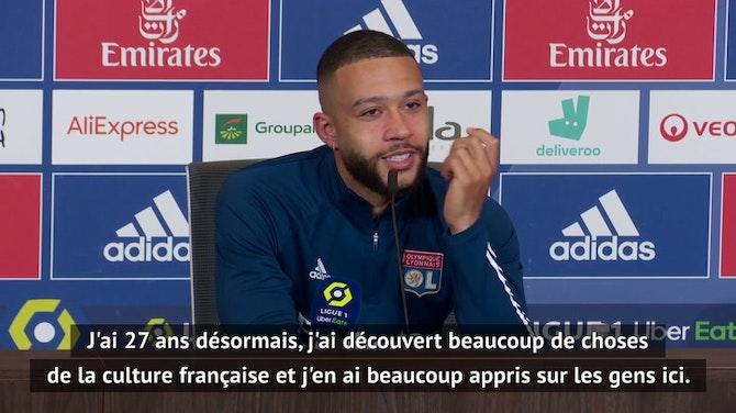 """Image d'aperçu pour 38e j. - Depay : """"Lyon aura toujours une place dans mon coeur"""""""