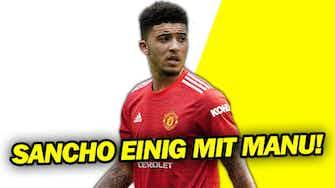 Vorschaubild für Jadon Sancho einigt sich mit Manchester United!