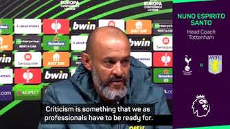 Preview image for Nuno indifferent to criticism of Spurs start