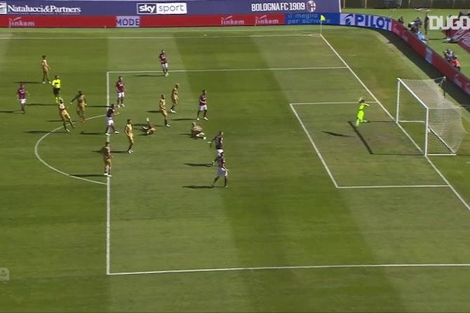 Il missile di Federico Santander contro l'Udinese