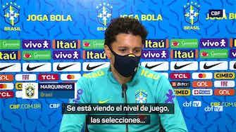 "Imagen de vista previa para Marquinhos: ""Invito a todos a ver el Brasil-Argentina"""