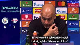 """Vorschaubild für Guardiola: Leipzig spielte """"Alles oder nichts"""""""