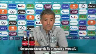 """Anteprima immagine per Minacce a Morata, Luis Enrique: """"Atto criminale"""""""