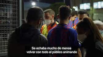 """Imagen de vista previa para Las reacciones de la afición culé a la victoria del Barça: """"Necesitábamos un partido así"""""""
