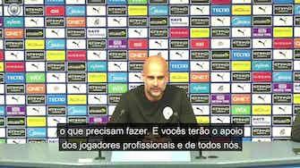 """Imagem de visualização para Guardiola fala sobre a estreia de  jovens em vitória do City: """"Façam o que quiserem"""""""