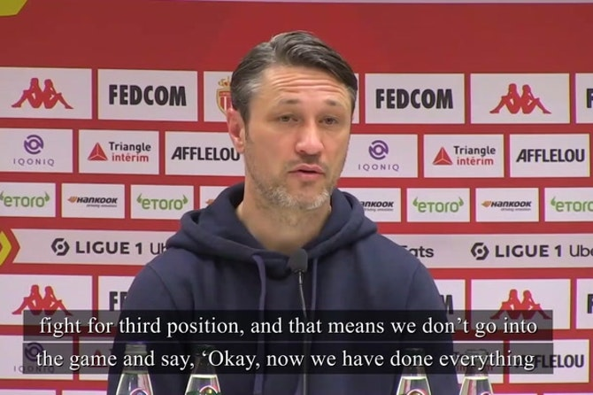 Kovac just talks of 'competing for third' for title contenders Monaco