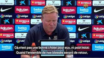 """Image d'aperçu pour Barcelone - Koeman : """"Je ne peux pas travailler avec 32 joueurs"""""""