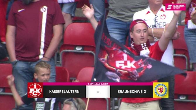 Vorschaubild für 1. FC Kaiserslautern - Eintracht Braunschweig (Highlights)