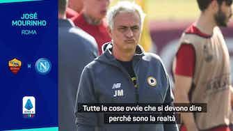 """Anteprima immagine per Mourinho: """"Napoli? Non penso a un risultato negativo"""""""