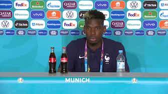 Image d'aperçu pour Groupe F - Pogba loue le travail défensif du trio Benzema/Griezmann/Mbappé