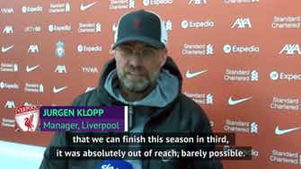 Preview image for Klopp 'couldn't be more happy' as Liverpool finish third