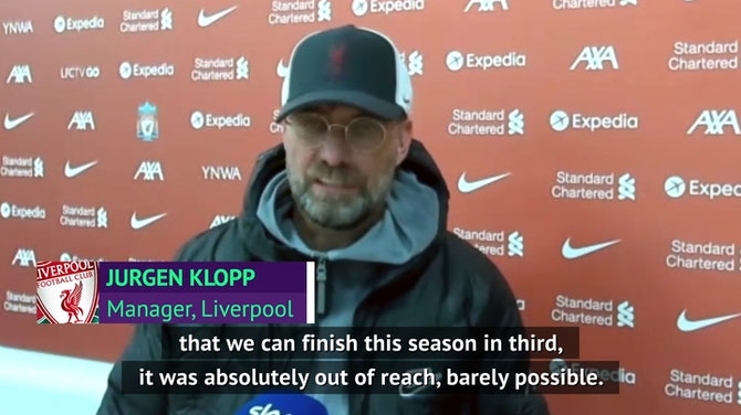 Klopp 'couldn't be more happy' as Liverpool finish third