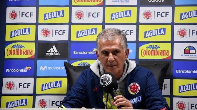 """Queiroz: """"Pedimos a los hinchas de Colombia comprensión"""""""