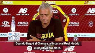 """Imagen de vista previa para Mourinho: """"En el Madrid tenía que ganar; en la Roma es diferente"""""""