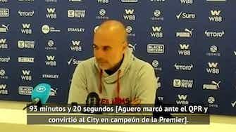 Imagen de vista previa para Guardiola alaba a Aguero