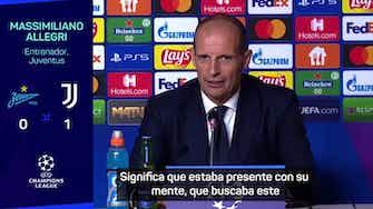 """Imagen de vista previa para Allegri: """"El fútbol es una cosa extraña"""""""
