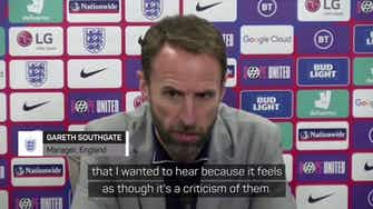 Preview image for Southgate condemns England fans who booed players taking the knee