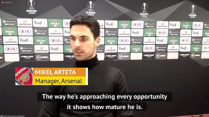 """Preview image for Willock can add """"special qualities"""" to Arsenal - Arteta"""