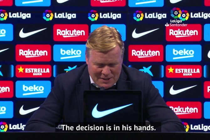Koeman hopes Messi stays at Barca for 'many more years'