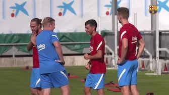 Image d'aperçu pour Le premier entrainement de Luuk de Jong avec Barcelone