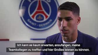 Vorschaubild für Ex-BVB-Star Hakimi: Möchte mit PSG Großes erreichen