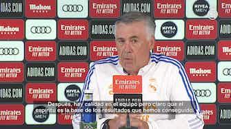 Imagen de vista previa para Carlo Ancelotti: 'La clave es el equilibrio: hacerlo bien con balón y sin él'