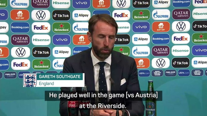 Preview image for Southgate hails 'fabulous' Saka after man of the match display
