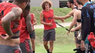 Imagem de visualização para Com a presença de David Luiz, Flamengo encerra preparação para duelo com o Grêmio