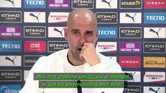 Preview image for FOOTBALL: Premier League: City's up-turn in form down to 'running less' - Guardiola