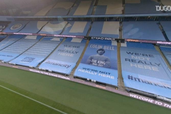 Drone footage: City win the 2020-21 Premier League