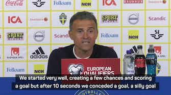 Preview image for  Luis Enrique rues 'silly' equaliser as Spain lose to Sweden