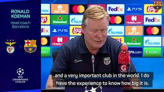 Preview image for Koeman admits Barca need a win against impressive Benfica
