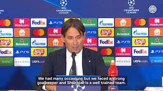 Preview image for Inzaghi and Skriniar react to draw with Shakhtar