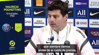 """Imagen de vista previa para Pochettino: """"Esperemos que Messi pueda jugar contra al City"""""""