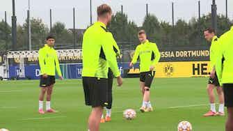 Vorschaubild für Ohne Haaland: BVB bereitet sich auf Sporting vor