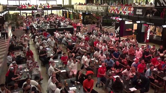 """Vorschaubild für """"It's coming home!"""": England-Fans feiern 4:0-Sieg"""
