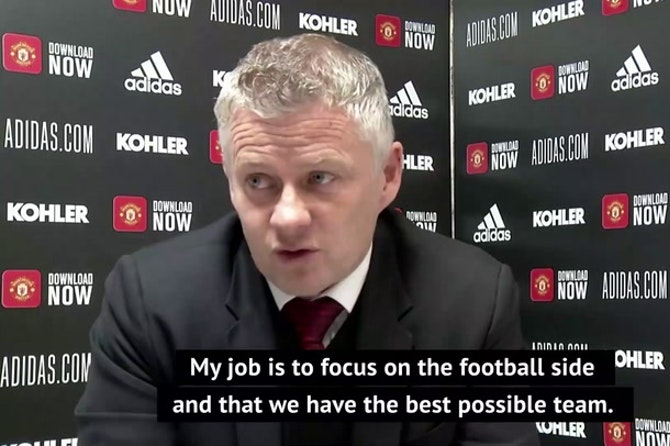 Solskjaer insists fan protests won't distract players from Liverpool clash