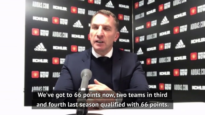 Rodgers recognises 'huge' Leicester step towards Champions League qualification