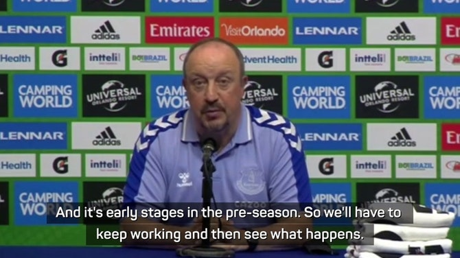 Preview image for Everton will make a decision on Moise Kean's future soon - Benitez