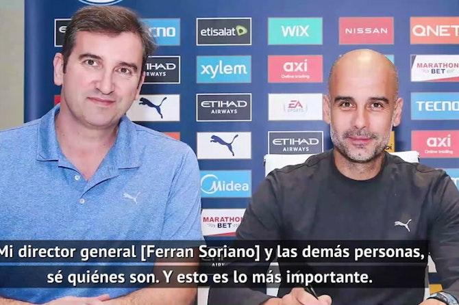 """Guardiola, sobre la Superliga: """"No tienen que disculparse conmigo o los jugadores"""""""