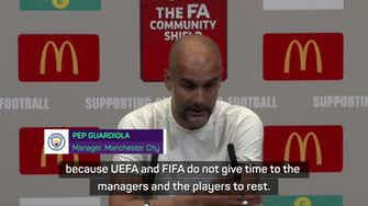 Preview image for 'No human can sustain this': Pep slams football schedule