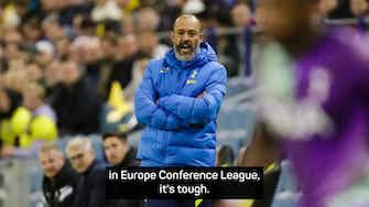 Preview image for Spurs coach Nuno defends squad rotation after Vitesse defeat