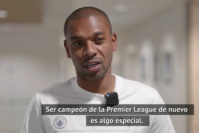 """Fernandinho: """"Hemos guiado al equipo a lograr este título"""""""
