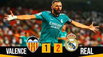Image d'aperçu pour Résumé Valence Real (1-2) Vinicius et Benzema arrachent la victoire !